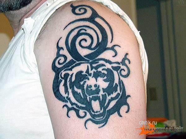 трайбл татуировка медведя