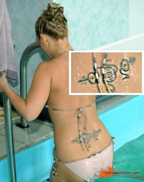 татуировка Пелагеи на спине