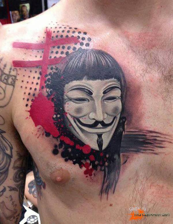 татуировка Вендетта на груди