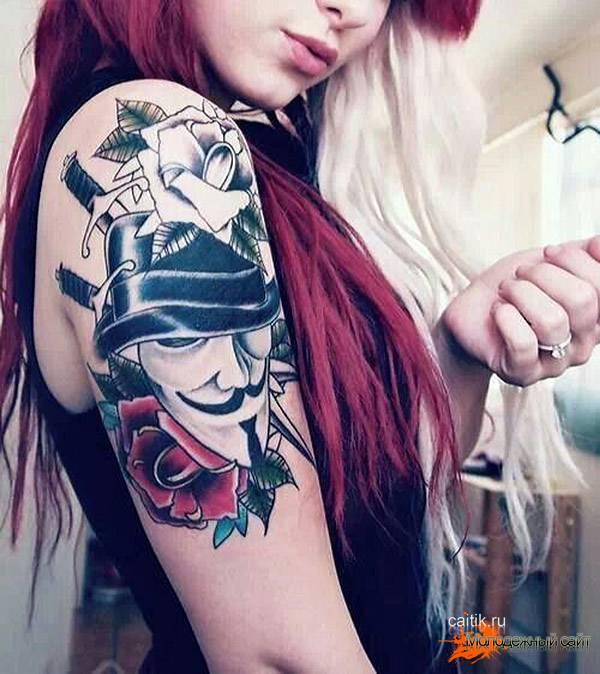 женская татуировка Вендетта