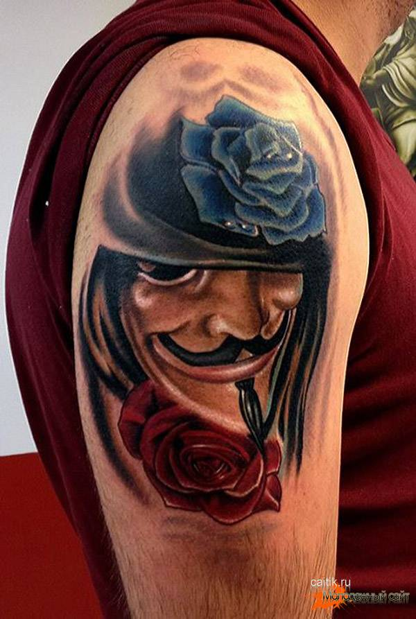 Вендетта татуировка на икре