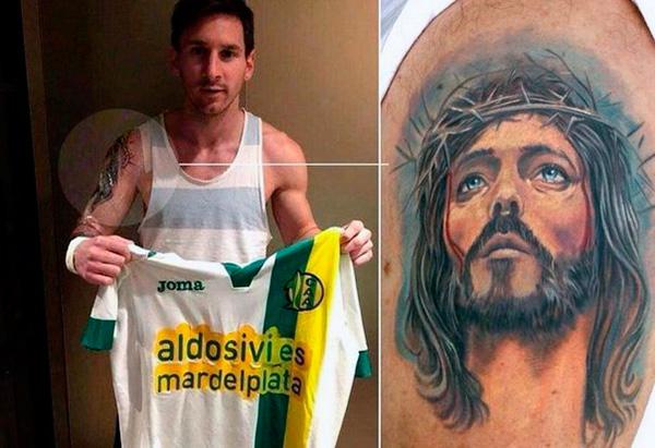 религиозная татуировка Месси Иисус