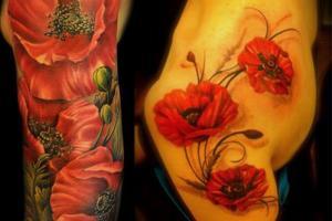 женские татуировки маки