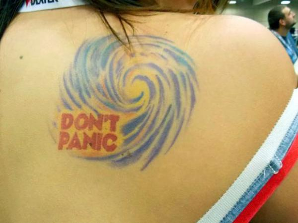 Don't Panic на лопатке