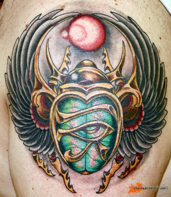 татуировка солнечный жук скарабей