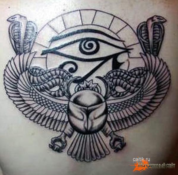 египетская тату скарабей, кобры, глаз гора